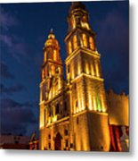 Campeche Cathedral At Evening Metal Print