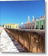 Campeche Wall And City View Metal Print