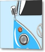 Camper Blue Metal Print by Michael Tompsett