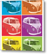 Camper Van Pop Art Metal Print by Michael Tompsett