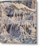 Campers And Eroded Cliffs At Ricardo Metal Print