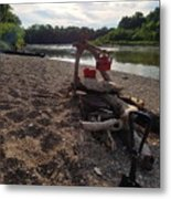 Campfire Cooking Soon - Indiana Canoeing Metal Print