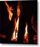Campfire Metal Print by Kimberly Camacho