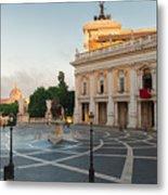 Campidoglio Square In Rome Metal Print