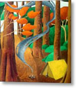 Camping - Through The Forest Series Metal Print