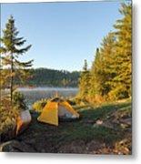 Campsite On Alder Lake Metal Print