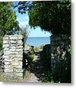 Cana Island Walkway Wi Metal Print