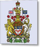 Canada Coat Of Arms Metal Print
