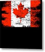 Canada Flag Gift Country Patriotic Travel Shirt Americas Light Metal Print