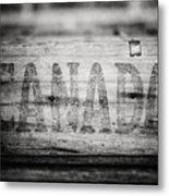 Canada In Black And White Metal Print