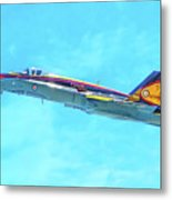 Canadian Armed Forces Cf-18 Hornet Metal Print
