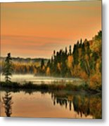 Canadian Autumn Sunrise Metal Print