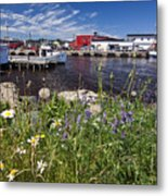 Canadian Harbor On A Sunny Day Metal Print