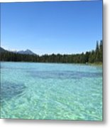 Canadian Paradise In The  Mountains Metal Print