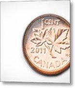Canadian Penny Metal Print