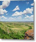 Canadian Prairie At Head-smashed-in Buffalo Jump Metal Print
