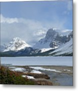 Canadian Rockies Bow Lake Metal Print