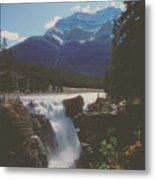 Canadian Rockies Cascade Metal Print