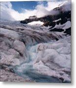 Canadian Rockies Glacier Metal Print