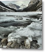 Canadian Rockies Rugged Winter Landscape Metal Print