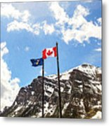 Canadian Rockies - Digital Painting Metal Print