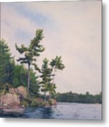 Canadian Shield Sculpture No. 2 Metal Print