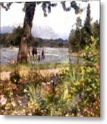 Canadian Sunday Out By The Lake Metal Print