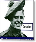 Canadian This Man Is Your Friend Metal Print