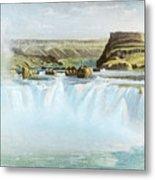 Canadian Water Fall Metal Print