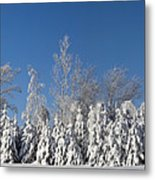 Canadian Winter Panorama Foster Quebec Metal Print