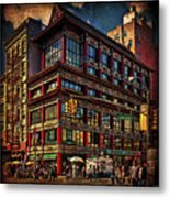 Canal And Center Streets New York City Metal Print