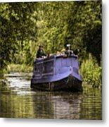Canal Boat Metal Print