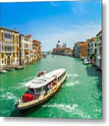 Famous Canal Grande In Venice Metal Print
