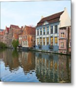 Channel In Ghent Metal Print