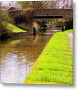 Canal In Oxford England Metal Print