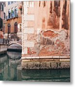 Canal In Venice, Italy Metal Print