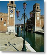 Canal Leading Into The Arsenale Metal Print