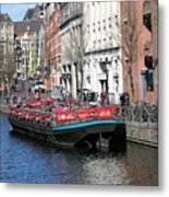 Canal Lunch Metal Print