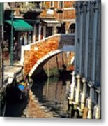 Canal Next To Church Of The Miracoli In Venice Metal Print