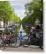 Canal Of Amsterdam Metal Print