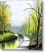 Canal Sowerby Bridge Metal Print