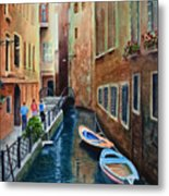 Canal St. Metal Print