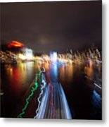 Canal Streaking Abstract Metal Print