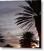 Canal Street At Dusk Metal Print