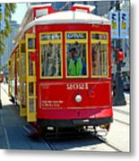 Canal Street Cable Car Metal Print
