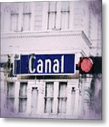 Canal Street In The Big Easy Metal Print
