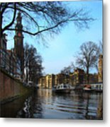 Canals Of Amsterdam IIi Metal Print