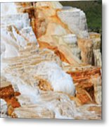 Canary Spring Mammoth Hot Springs Upper Terraces Metal Print