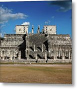 Cancun Mexico - Chichen Itza - Temple Of The Warriors Metal Print
