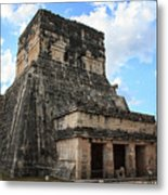 Cancun Mexico - Chichen Itza - Temples Of The Jaguar On The Great Ball Court Metal Print